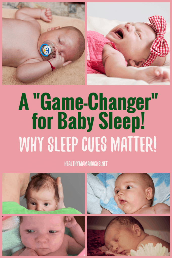 "Learning your baby's sleep cues can be the biggest ""game-changer"" for new parents. When babies get overtired, it's difficult for them to fall asleep and stay asleep. Learn why and how to prevent an overtired, fussy baby! #sleepcues, #babysleep, #fussybaby"