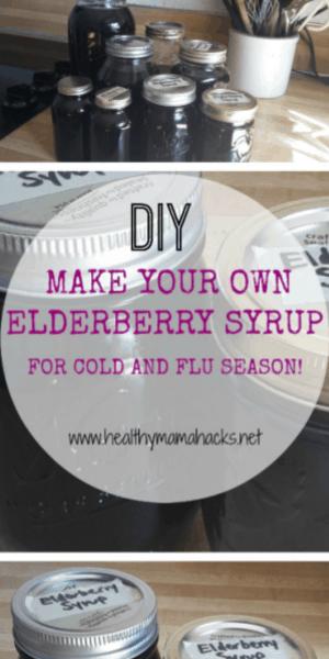 DIY elderberry syrup recipe