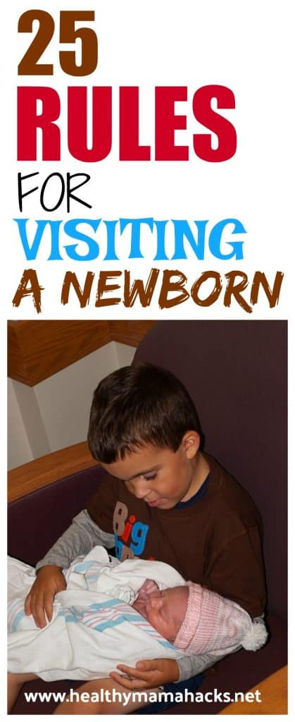 Rules for Visiting a Newborn