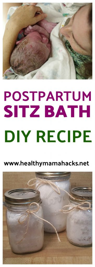 Postpartum sitz bath recipe - easy diy bath salts