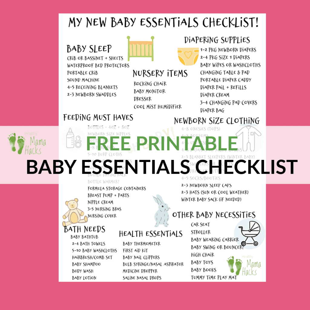 FREE Printable Baby Essentials Checklist