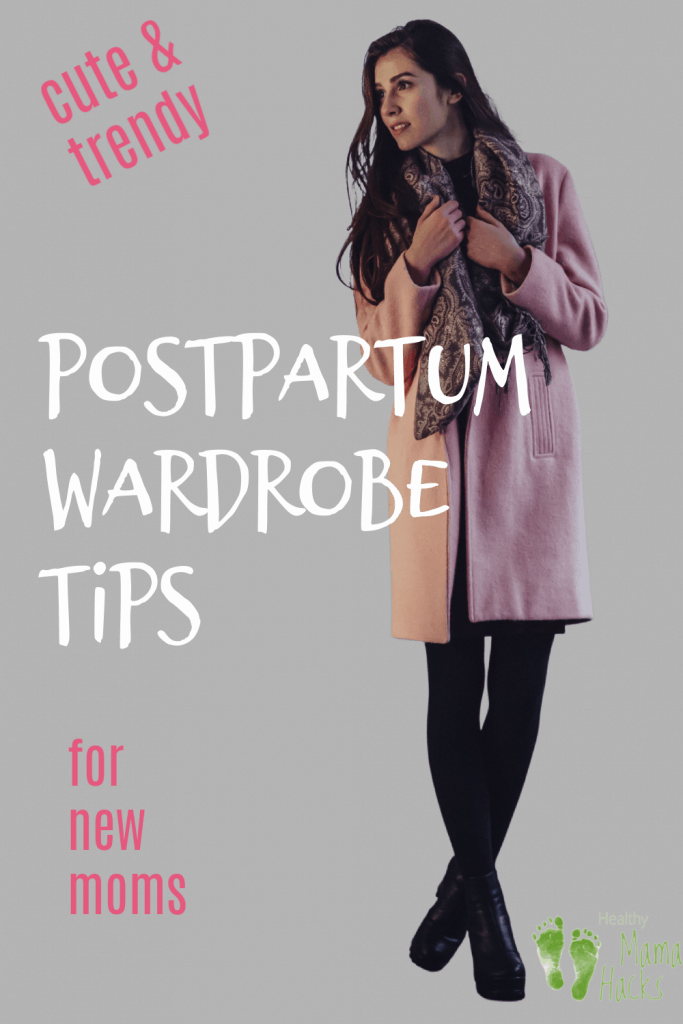 New mom wearing a cute outfit after baby. What to wear postpartum? Tips for new moms for post baby body.
